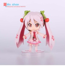 Japanese Anime Cute Nendoroid 4″ Hatsune Miku Sakura Miku PVC Action Figure Collectible Model Toy Doll 10cm P20