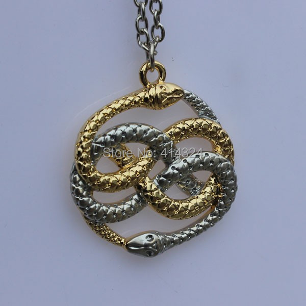 Fashion 1pc the never ending story two snakes auryn goldsilver fashion 1pc the never ending story two snakes auryn goldsilver pandemonium necklace pendant in rings from jewelry accessories on aliexpress alibaba mozeypictures Choice Image