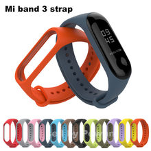 Xiaomi Mi Band 3 Strap With Silicone Replacement Smart Wristband Colorful M3 MiBand 3 Miband3 Strap For Xiomi Mi Band 3 Bracelet(China)