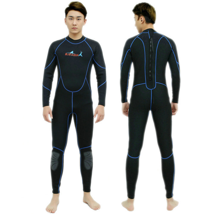 ФОТО Neoprene 3MM Scuba dive Wet suit Lovers Wetsuit Equipment Snorkeling Jumpsuit One piece long sleeved Triathlon Spearfishing Surf