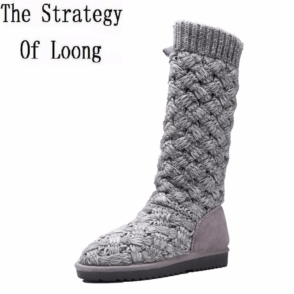 High Top Grade Quality Sheep Wool Knots Thick Warm Women Snow Boots New Arrival Fashion Lady Winter Genuine Leather Half Boots c ts018 new arrival 100g top grade 100