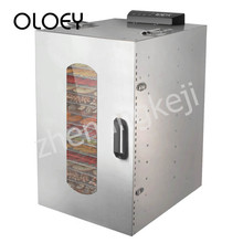 Fruit Dryer Food Stainless Steel Meat Dehydrator 20-storey Visible High Capacity Power Saving Timing Temperature Control Health