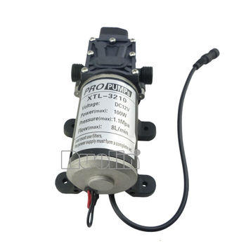BEST DC 12V 100W High Pressure Micro Diaphragm Water Pump Automatic Switch 8L/min 18.3 x 10 x 7.5cm new arrival automatic pressure switch type with handle and cooling fan 8l min 100w dc 12v micro diaphragm pump