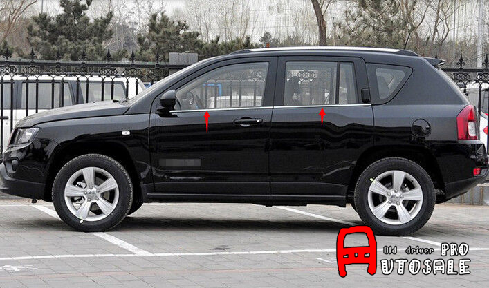 For Jeep Compass 2011 2012 2013 2014 2015 Stainless Bottom window Frame Decorative sill Cover Trim 4pcs car styling