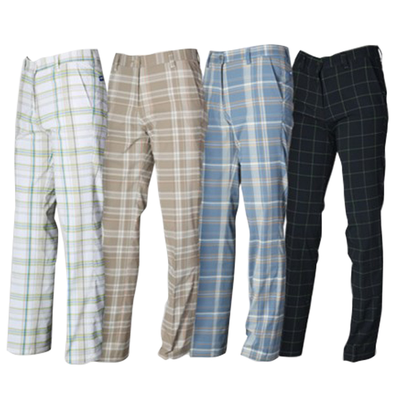 ФОТО 2017 Spring and summer plaid golf pants men's breathble Stretch Golf pants quick-drying golf sports Full Length pants plus size