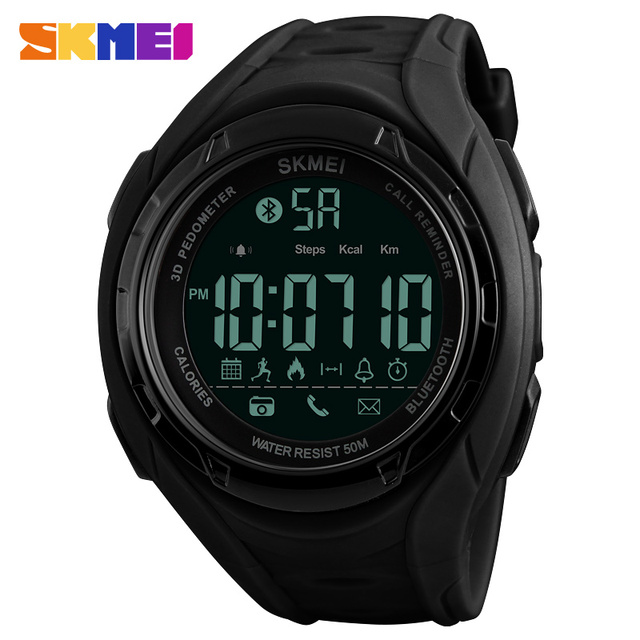 minorista online 96ac8 6c8ff Reloj inteligente SKMEI Bluetooth relojes deportivos de moda para hombre  podómetro calorías reloj Digital resistente al agua Apple IOS Android
