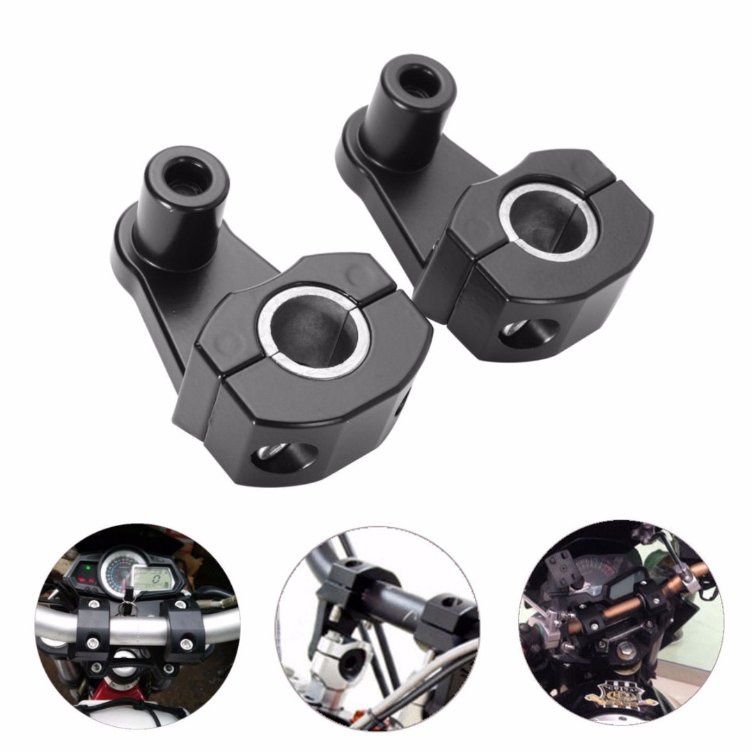 Mayitr 1 Pair Universal 7/8 Inch Pivoting Motorcycle Handlebar Riser For 22mm/28mm Bars Clamp silver universal anodized 2 inch pivoting motorcycle handlebar riser for 7 8 28mm bars clamp page 3