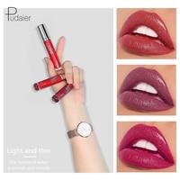 Pedaier Brand Liquid Lip Gloss Siut 6Colors for a Set Moisturizer Lip Gloss Lipstick Waterproof Lip Tint Lips Makeup