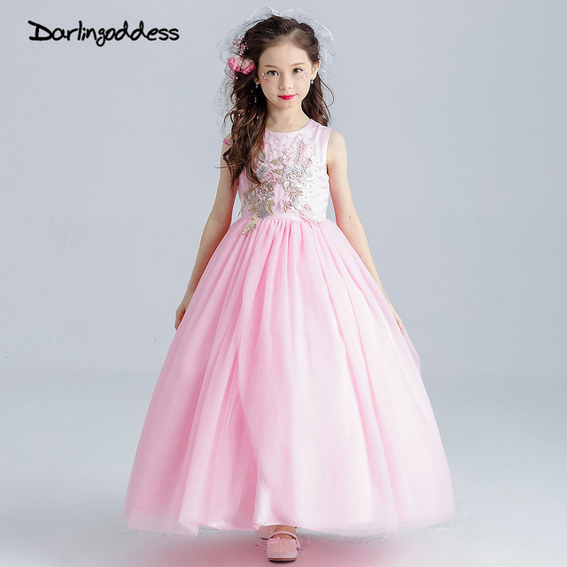 Blush pink flower girl dress for kids first communion gown girls blush pink flower girl dress for kids first communion gown girls teenager dresses princess prom pageant mightylinksfo