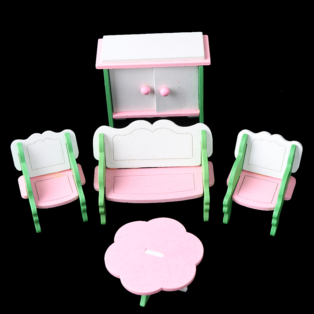 Hot Mini Wooden Furniture Dollhouse Set Miniature DIY Dollhouse Room <font><b>1</b></font>:<font><b>12</b></font> <font><b>dolls</b></font> <font><b>house</b></font> miniature <font><b>accessories</b></font> Toys For Children image