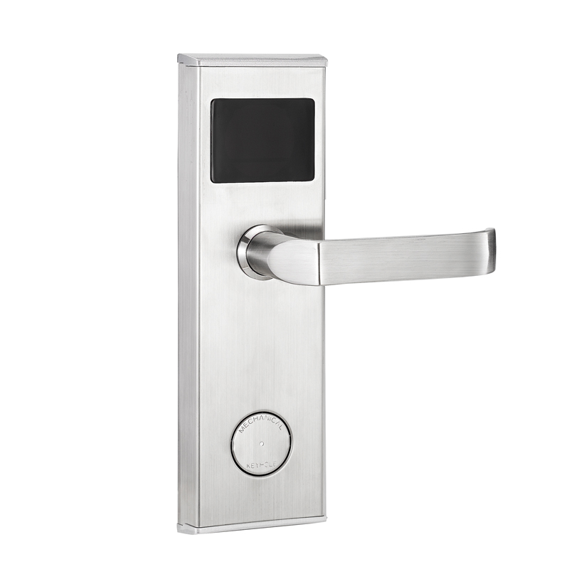 Good quality keyless door lock smart electronic hotel lock zinc alloy  handle swipe IC ID card unlock dd418d381d6