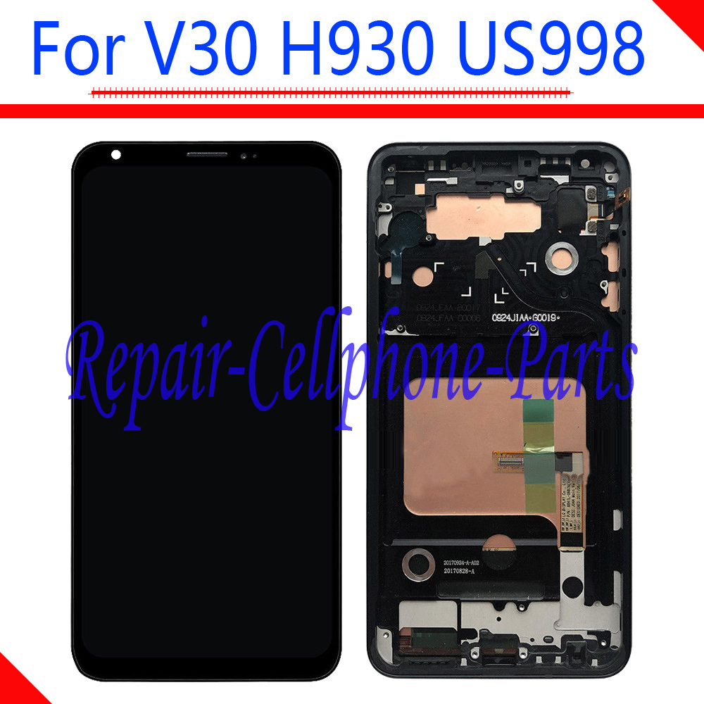 6.0 inch NEW Black Full LCD display + Touch Screen Digitizer Assembly With Frame For LG V30 LG-H930 H930 US998 Tracking Number6.0 inch NEW Black Full LCD display + Touch Screen Digitizer Assembly With Frame For LG V30 LG-H930 H930 US998 Tracking Number
