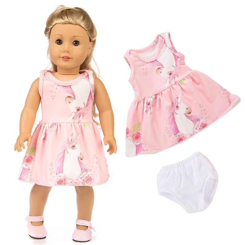 2 шт./компл. костюм + трусы кукла для маленьких девочек одежда для детей для 43 см для ухода за ребенком для мам Zapf одежда для малышей новорожденных платье куклы реборн костюм для новорожденных Одежда для кукол