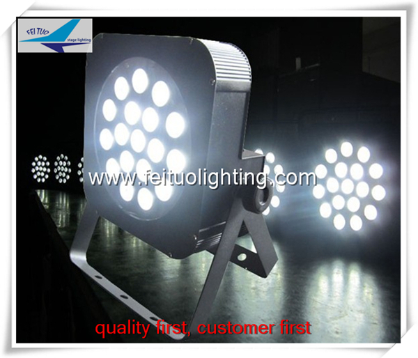 8lot Stage light 18x3 china led par cans 18x10w rgbw 4in1 slim flat led par 64 stackable 4in1 flightcase pack 350w big bee eye led par light zoom rotation colorful stage par cans plastic cover lcd display