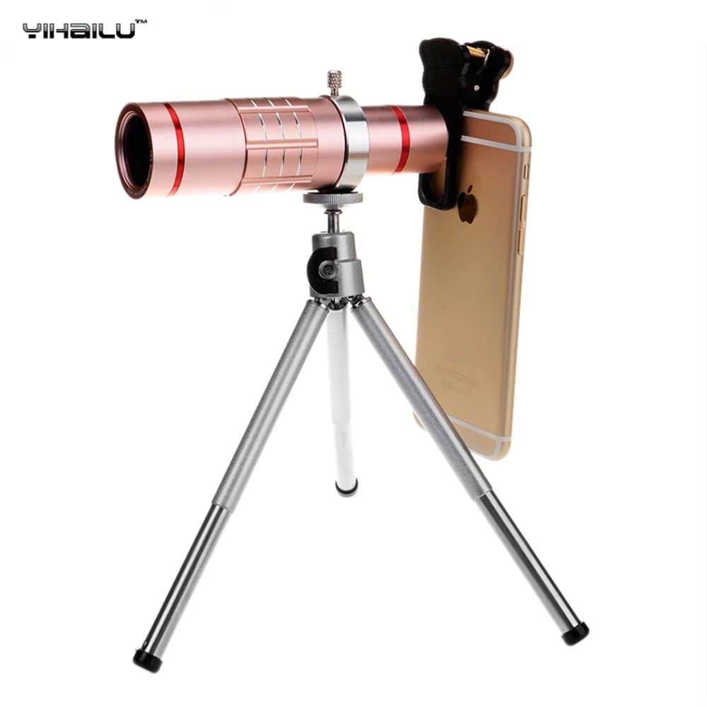 imágenes para Universal 18x zoom óptico teleobjetivo telescopio smartphone móvil metal de la cámara con el trípode para iphone 7 samsung s8 más sony