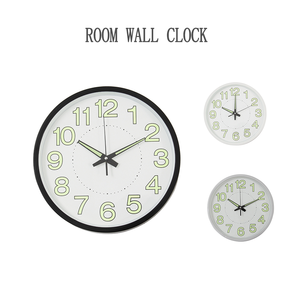 12 Inch Luminous Silent Wall Clock For Bedroom Living Room Simple Design Quartz Wall Hanging Clock Home Decor Without Battery