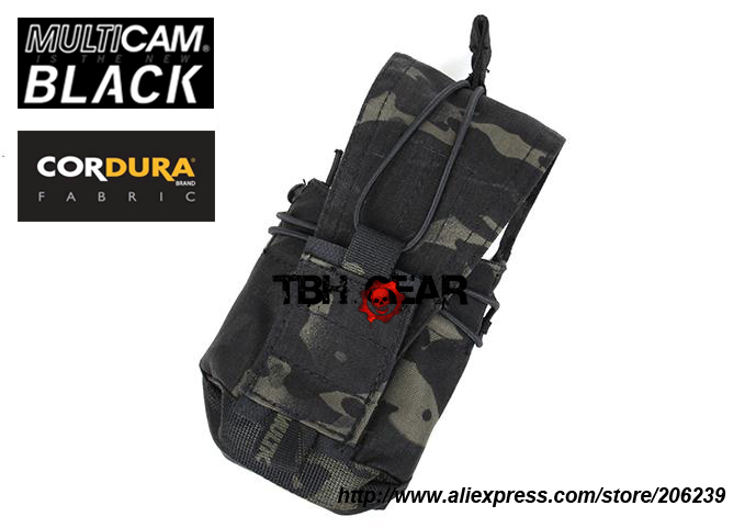 TMC 556 762 MBITR Pouch Multipurpose Military Tactical MOLLE Pouches Cordura Multicam Black Free shipping SKU12050653
