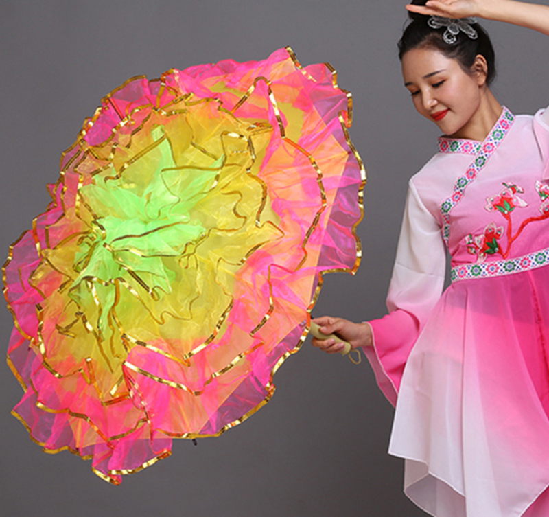 Christian Dancing Umbrella Belly Dance Fan Stage Props Fan Opening Dance Umbrella Performance Umbrella Chinese Umbrellas Props
