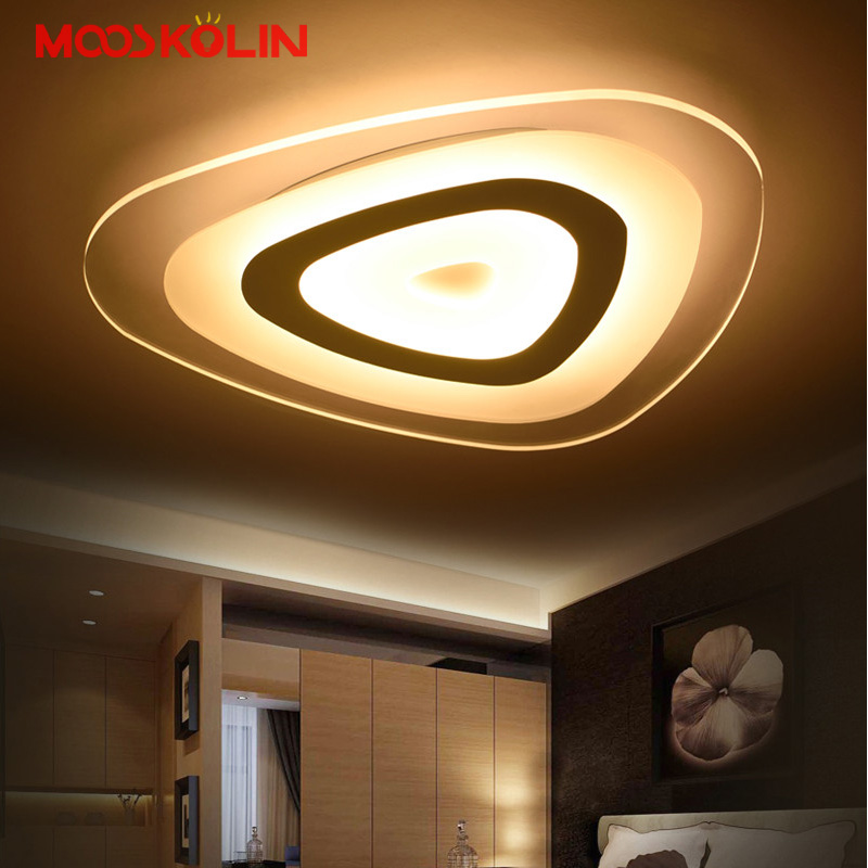 2017 Slim Acrylic Modern LED Ceiling Lights Living Room Ceiling Lamp Bedroom Decorative Super Thin lampshade Lamparas de techo modern minimalist 9w led acrylic circular wall lights white living room bedroom bedside aisle creative ceiling lamp