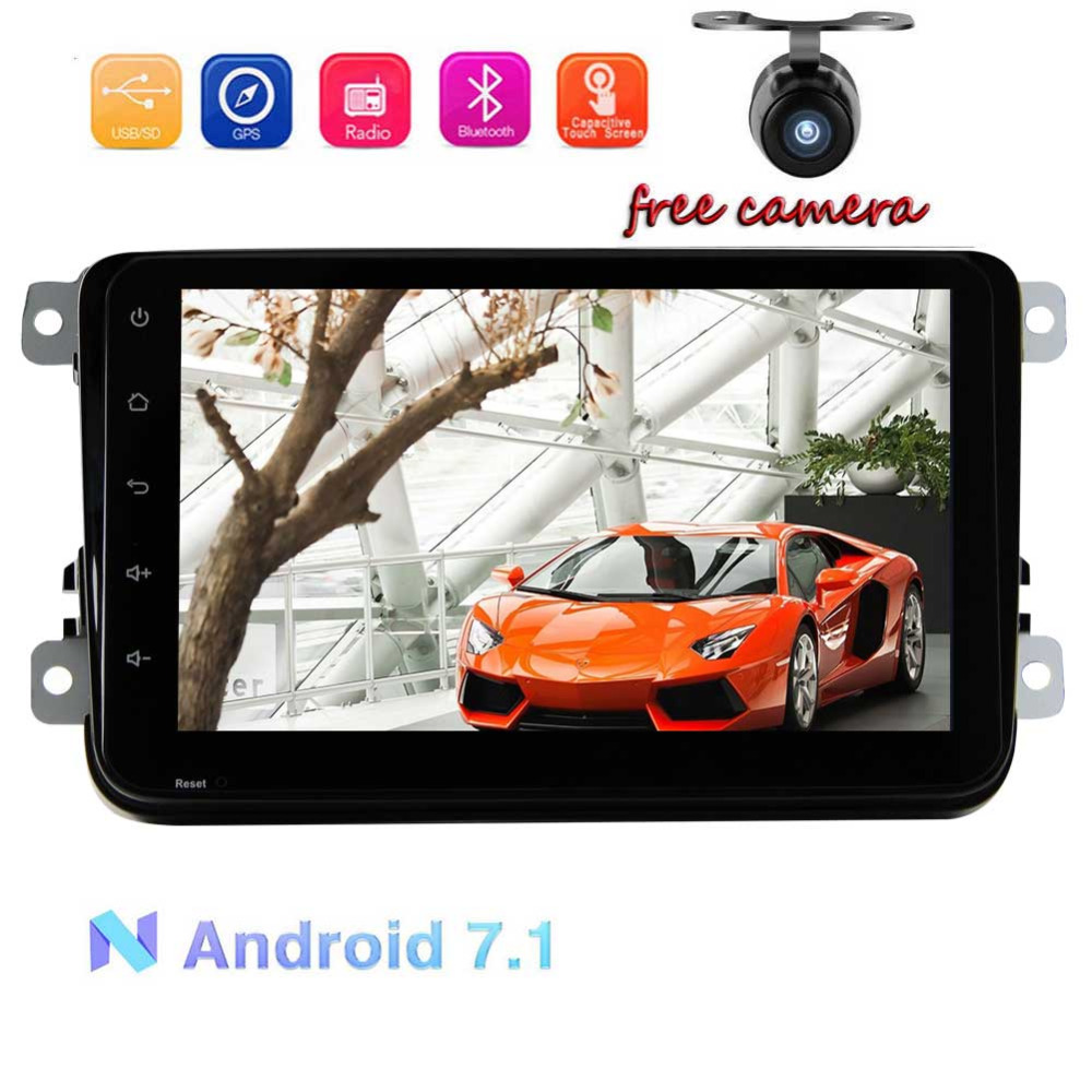 EinCar Android 7 1 Double DIN Car GPS Navigator For Volkswagen 8 Blutooth WIFI USB OBD