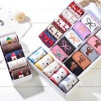 5 Pairs Lot Fashion Women S Cartoon Socks Warm Wool Socks Casual Female Brand Winter