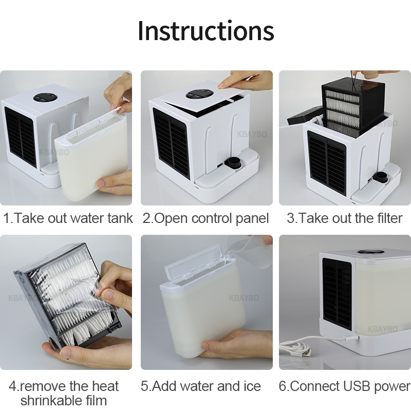 Mini Air Conditioning Appliances Cooler Fans Air Cooling Fan Portable For Office