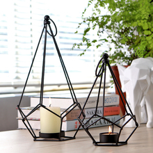 Creative handmade wrought iron candlestick table simplicity Candlestick ornaments Home wedding crafts