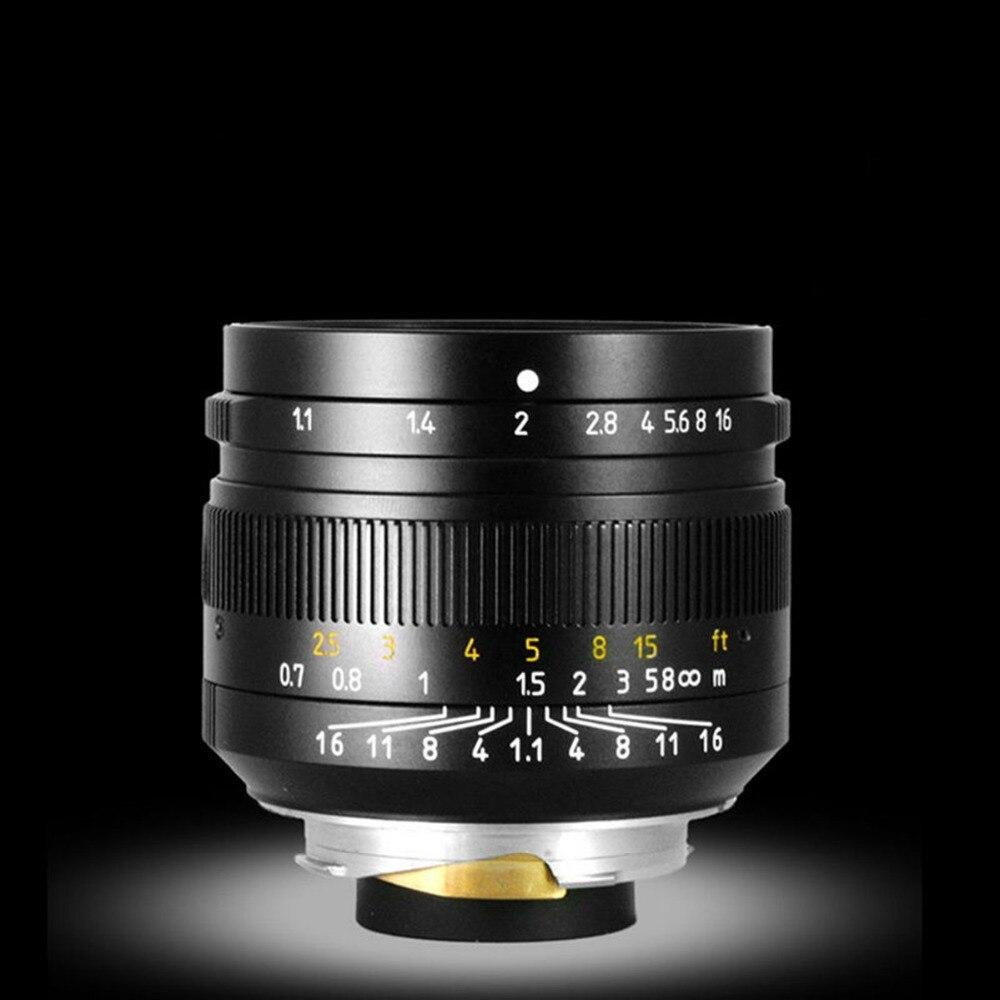 50mm f1.1 m montagem lente fixa para leica m montagem câmeras M M m240 m3 m6 m7 m8 m9 m10 - 3
