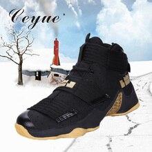 Ceyue/ мужские баскетбольные кроссовки; кроссовки Lebron James; высокая обувь на шнуровке; ботильоны; Противоударная Баскетбольная обувь; homme baloncesto