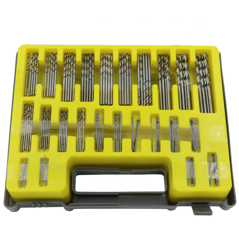150PCS 0.4-3.2mm Twist Drill Bit Set Mini HSS Hand Tools HSS Micro Precision Power Kit 250616 computer desk and desk style modern simple desk with bookcase desk simple table solder edge e1 grade sheet material