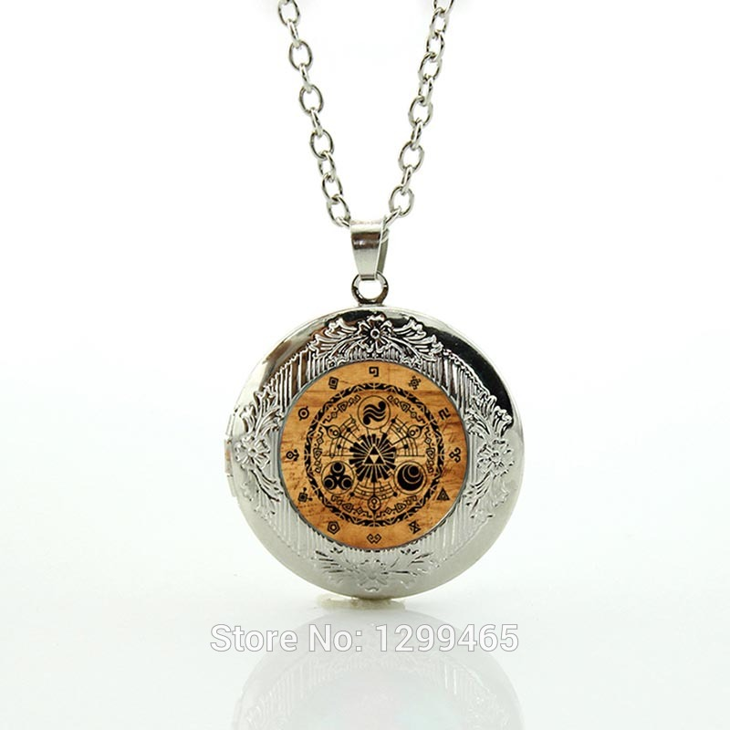 TAFREE Gate of Time Pendant The Zelda Skyward Sword Necklace Wade Wilson superhero doctor who locket necklace men jewelry N581 ...