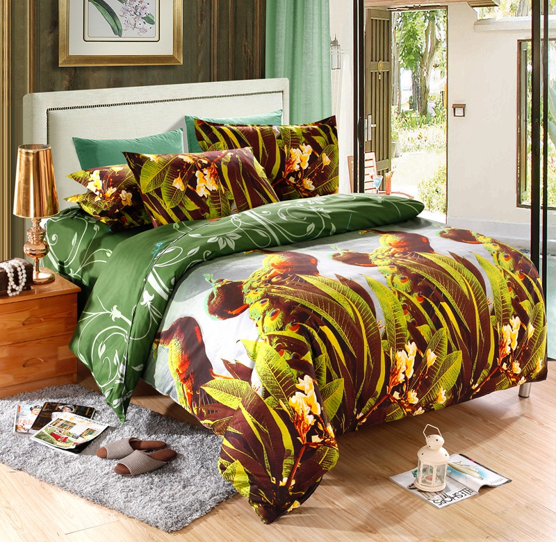 fashion cheap bedding sets bohemia 4pcs luxury 3d peacock bedding set king queen full size duvet cover bed sheet pillow case