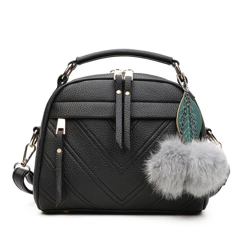 57e46d033f36 Роскошные сумки женские кожаные сумки дизайнерские с верхней ручкой меховая  сумка через плечо для подростков девочек