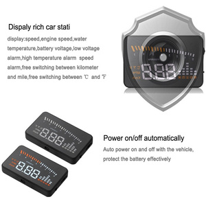 Image 3 - X5 Car Hud Head Up OBD 2 Display Digital Speedometer Overspeed Alarm Auto Windshield Projector OBD ii Car Electronics