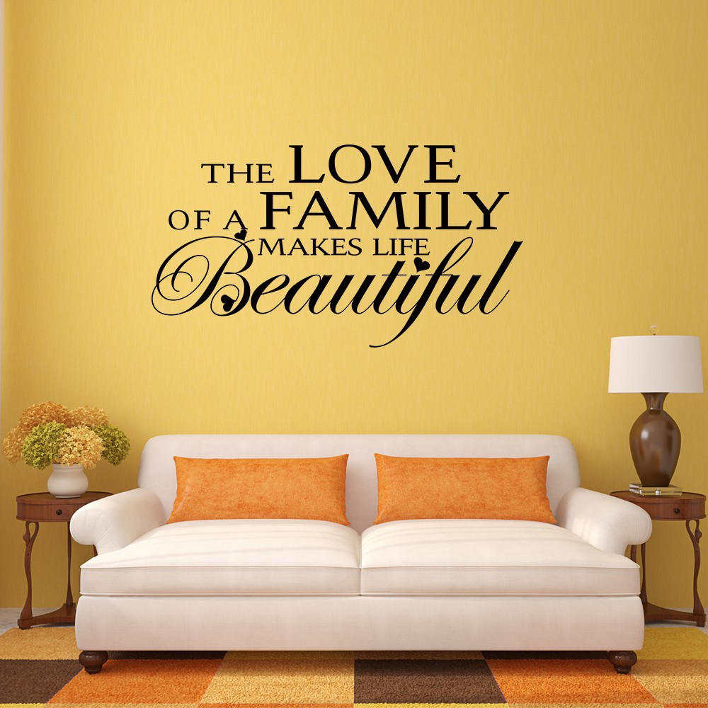 The Love of a Family Makes Life Beautiful Love Family Quote Vinyl ...
