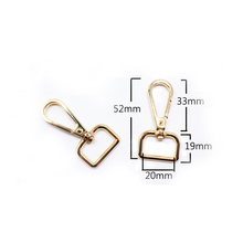 Rongxiao Swivel Gold Finish Snap Hooks Lobster Claw Metal