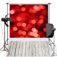 Red Shimmer New Fabric Flannel Photography Background For Wedding Floor Vinyl Backdrop For Children photo studio F456