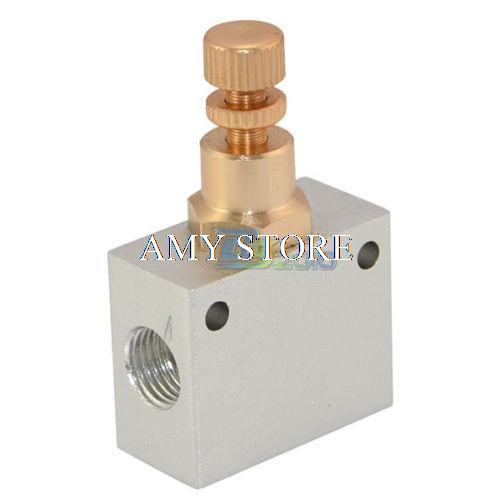 Pneumatic Flow Control Valves : Pneumatic shuttle valve quot bsp air flow control throttle