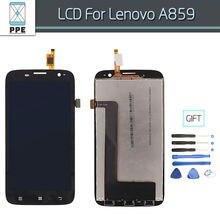 "Pantalla LCD para Lenovo A859 Pantalla LCD Táctil Digitalizador Asamblea Reemplazo de la Pantalla Negro 5 ""IPS Screen + Herramienta"