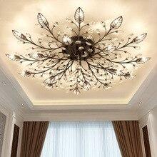 Modern crystal led chandeliers ceiling for living room bedroom dining room G9 led lamp lustres de cristal lighting fixtures
