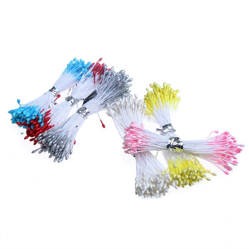 Выберите 6 цветов 500 шт. мм 1 мм искусственный жемчуг цветок тычинки цветочные тычинки Свадебные украшения для DIY