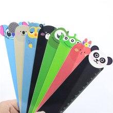 8 PCS Random Panda Owl Straight Ruler School Supplies 8 Style 15cm Kawaii Animal Plastic Bendable