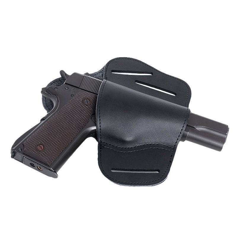 Leather Concealed Carry Gun Holster for Glock 17 19 22 23 43 Sig Sauer P226 P229 Ruger Beretta 92 M92 s&w Pistols Clip Case image