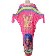 Women's maxi long African style dashiki baggy dress