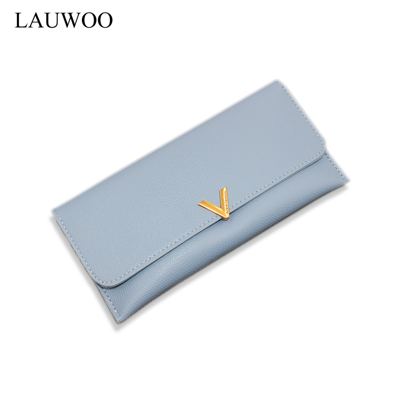 LAUWOO New Elegant Women Leather Wallet Lady Portable Multifunction Purse Girls Change Card Purse Hot Female Clutch Carteras кошелек new brand purse ts49fe elegant wallet
