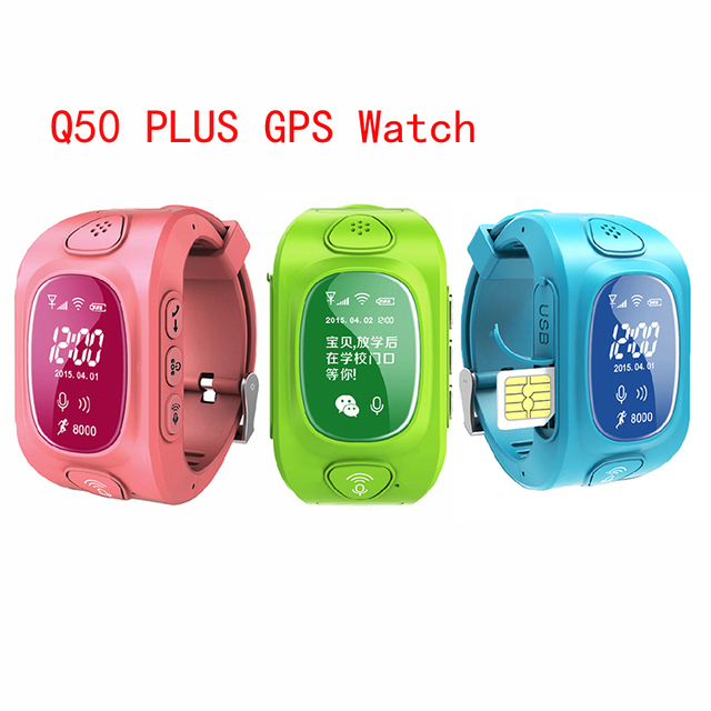 Kids GPS Tracker Q50+ smart wrist Q50 Q50+ for Children baby Smart phone Watch with SOS support GSM Android&IOS Anti Lost