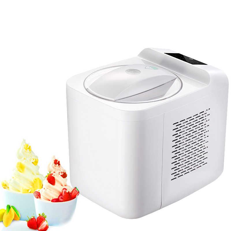Ice Household Criador Máquina de Semicondutores De Refrigeração Máquina De Sorvete De Morango Fruta da Manga DIY Ice Cream Maker 1000ml 220v