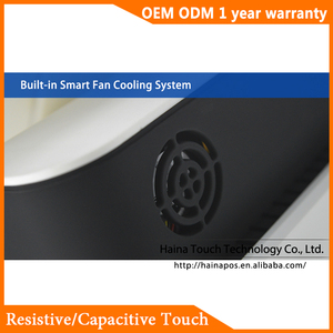 Image 5 - Haina Touch 15 pulgadas pantalla táctil estación de Gas POS Sistema de pantalla Dual Wifi POS máquina