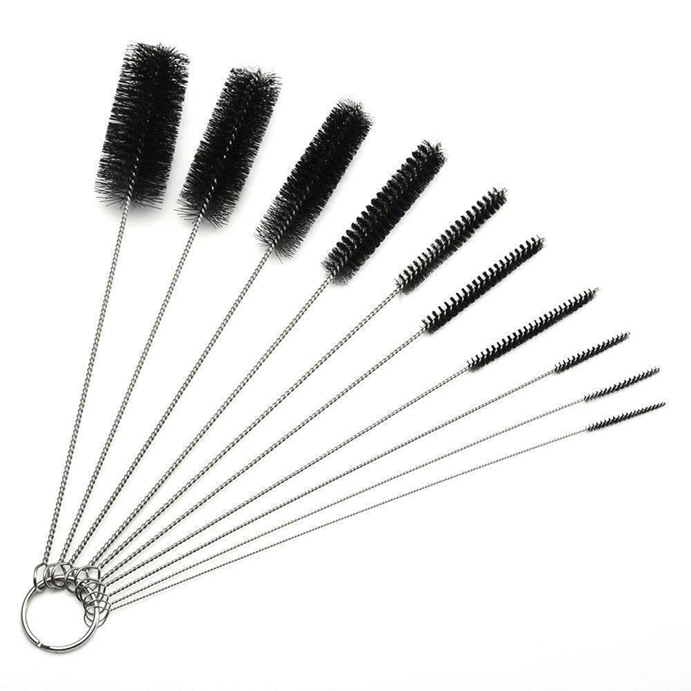 10 Pcs/Set Multi-Functional Metal Clean Glass Hookah Smoking Pipas Fumar Feeding Bottle Test Tube Glass Cleaning Brush