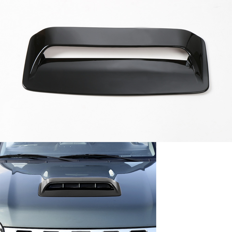 For Suzuki Jimny 2012 2015 Car Front Hood Air Vent Trim Cover Cap Car covers Styling ABS 3 Colors Available